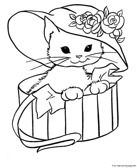 printable animal sheets cute kitty cat coloring pages free printable coloring