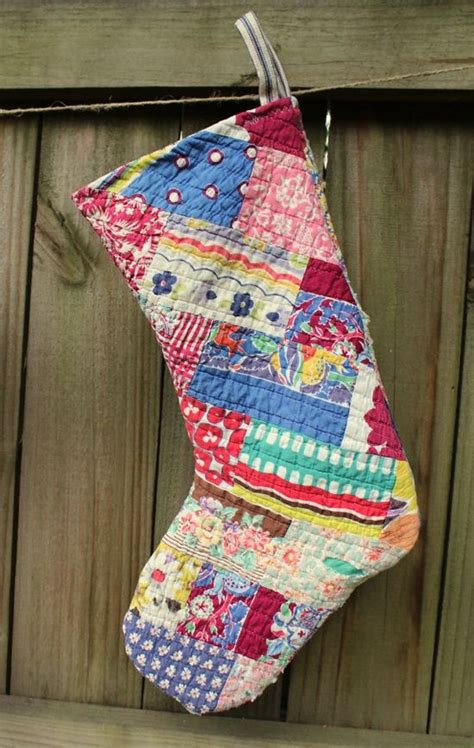 images  quilted christmas stocking  pinterest quilt stockings  shabby chic