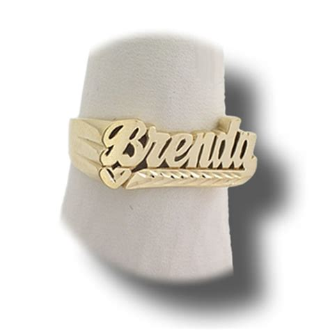 custom brenda name ring 10k or 14k gold