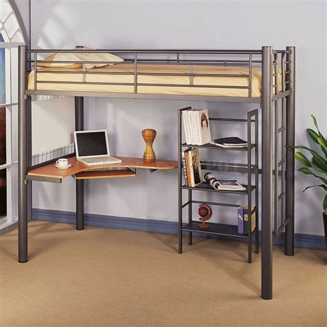 bunk bed with desk underneath for your kids compact room