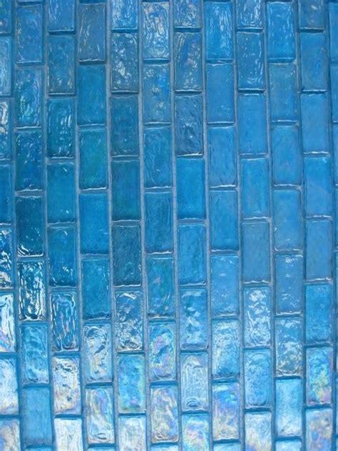 turquoise iridescent subway mosaic glass tile