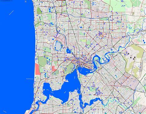 printable map perth city city maps perth