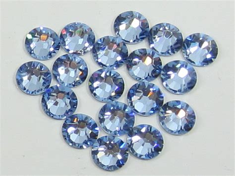 sapphire light 12 pcs 48ss light sapphire flatback swarovski rhinestones