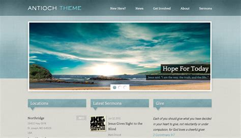 Wordpress Church Templates 10 free and premium church themes ginva