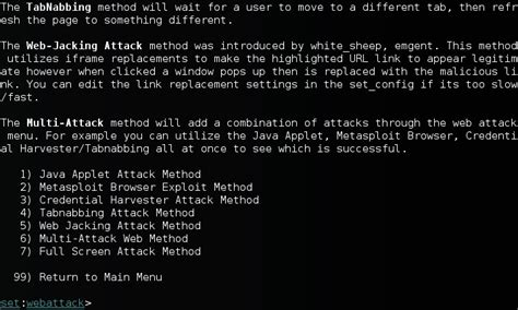 social engineering toolkit tutorial kali linux social engineering toolkit in kali linux social account