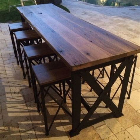 Narrow Outdoor Bar Table Narrow Outdoor Bar Table 187 Outdoor Furniture Narrow Kwila Timber Bar Setting Furniture Narrow