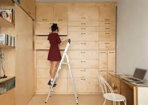modular studio apartment tiny transforming apartment maximizes space for an artist