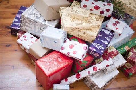 photo of pile of gift wrapped christmas presents free