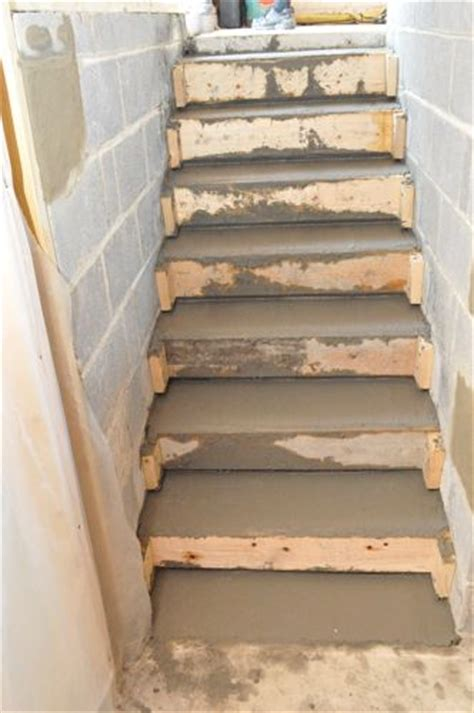 How To Build Concrete Stairs how to pour concrete stairs one project closer