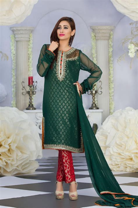 dress design in white colour exclusive green red color latest design party dress