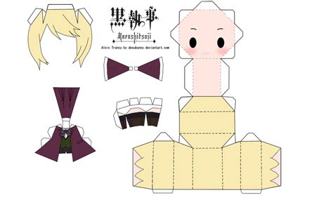 Anime Papercraft Printable - alois trancy papercraft by tsunyandere on deviantart