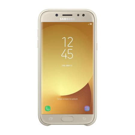 official samsung galaxy   dual layer cover case gold