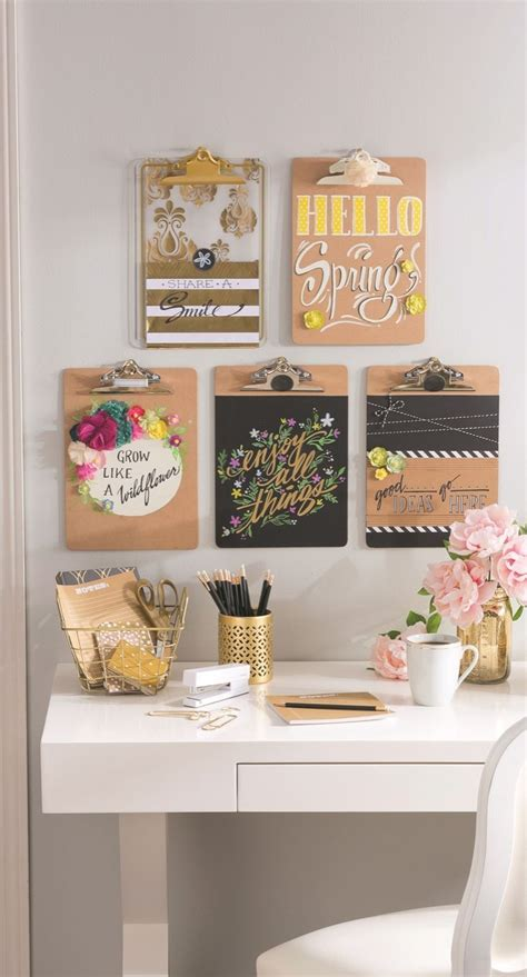 diy office wall decor 25 best ideas about decorated clipboards on