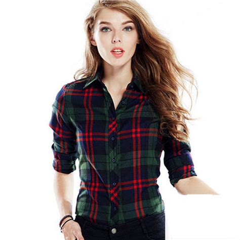 Promo Anabelle And Plait Shirt cwlsp 100 cotton plaid blouses shirts outwear sleeve flannel tartan shirts 2015
