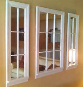 9 lite white mirror windows contemporary artwork