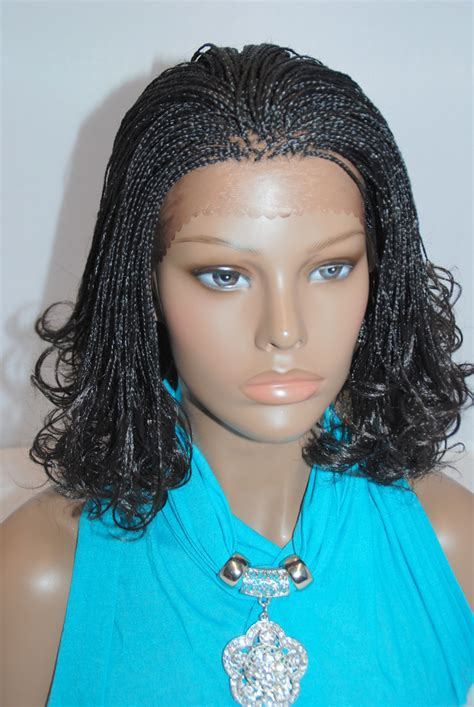micro braids lace front wigs fully hand braided lace front wig micro braids color 1b