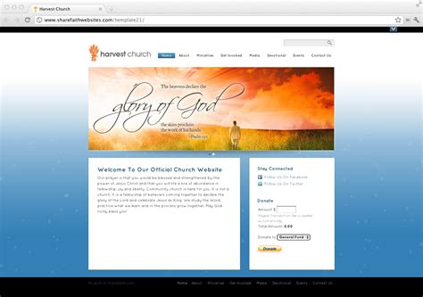 New Church Website Templates Released Sharefaith Magazine Church Website Templates
