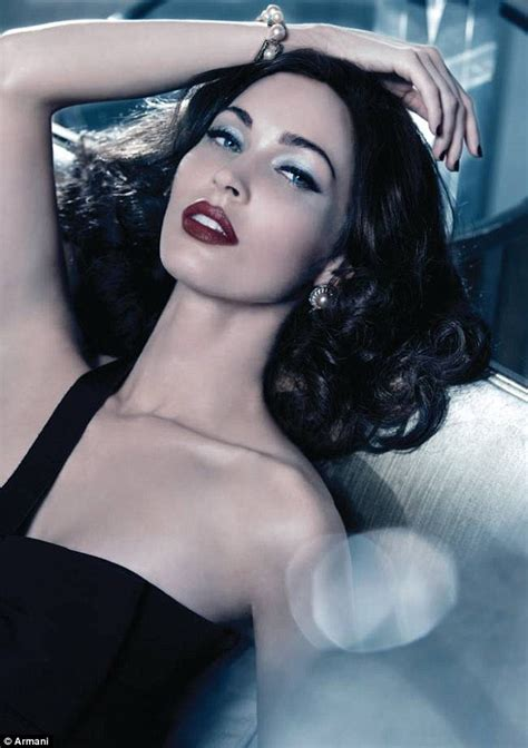 lipstick latest glamour megan fox oozes old school hollywood glamour for new