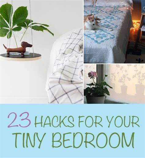 hacks   tiny bedroom