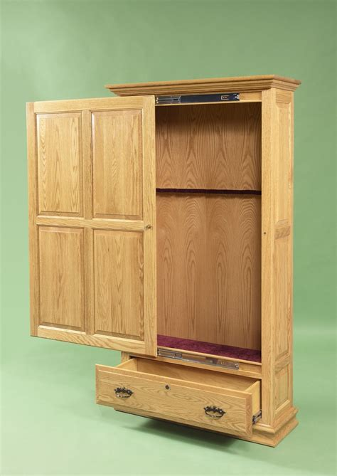 wood cabinet building gun cabinet wood projects