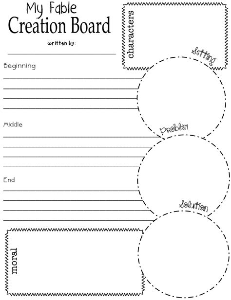 write my own will template a fable writing graphic organizer to help primary students