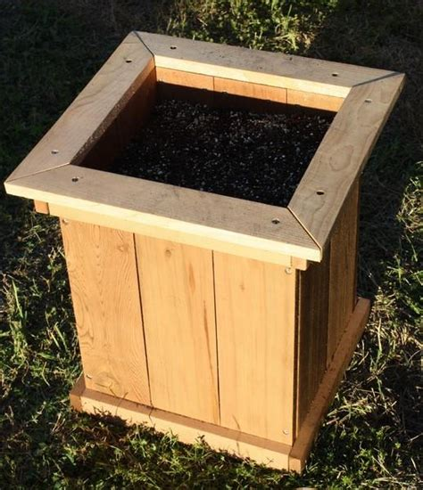 two new solid cedar wood garden planter boxes 18 inches