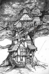 tom s house concept sketch 8in x 11in art print