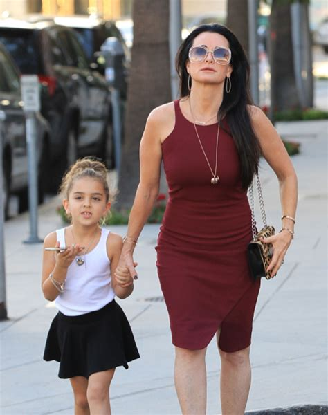 kyle richards skin routine kyle richards out in beverly hills with her daughter