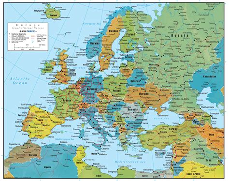 World Map Wall Murals europe wall map geopolitical deluxe edition