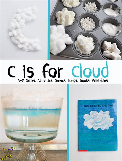 Sensory Box Seri B letter of the week a z series c is for cloud