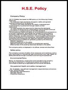 Company Driving Policy Template by Hse Policy Hse Policy Exporter Manufacturer