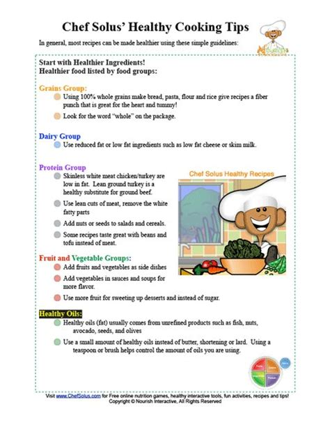 printable recipes for healthy eating chef solus healthy cooking tips printable
