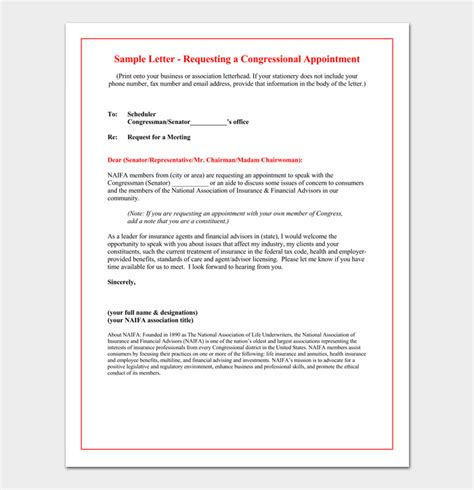 appointment letter for meeting with client meeting appointment letter 5 sles formats