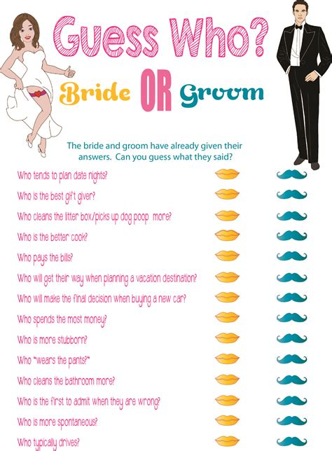 top 10 to play at a bridal shower top 10 bridal shower version free software