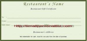 food gift certificate template free certificate template for food business free