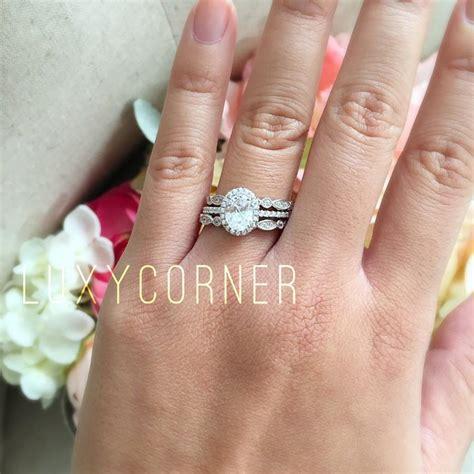 verlobungsring frau gold oval halo engagement ring wedding ring promise ring lab