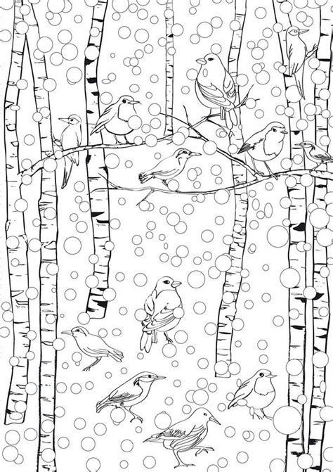 winter coloring pages adults 57 best images about winter kita on snowflakes