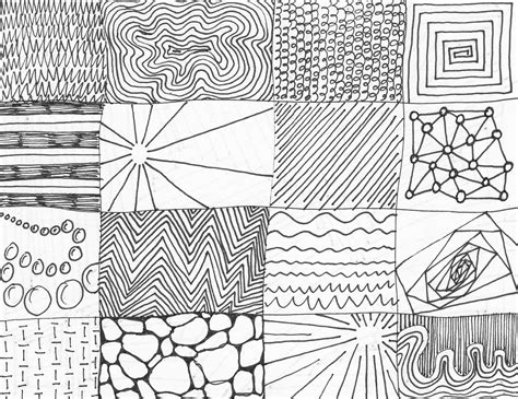 pattern and texture difference thumbnails exploring line point shape form scale