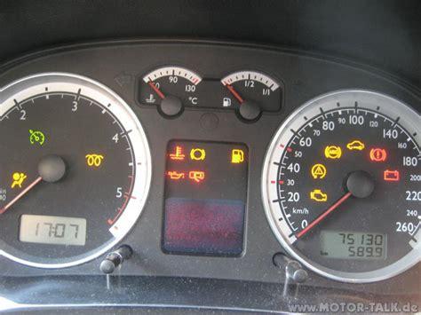 Kontrollleuchten Auto Vw Golf 6 by Kontrollleuchten Kombiinstrument Was Sollte Leuchten