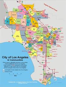Map Of Los Angeles Ca by Los Angeles California Map