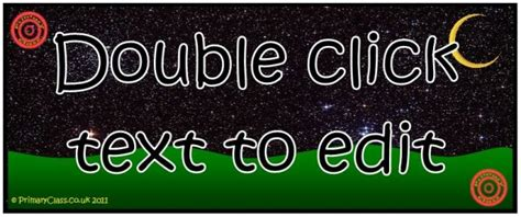 classroom banner template primaryclass co uk resources for the classroom