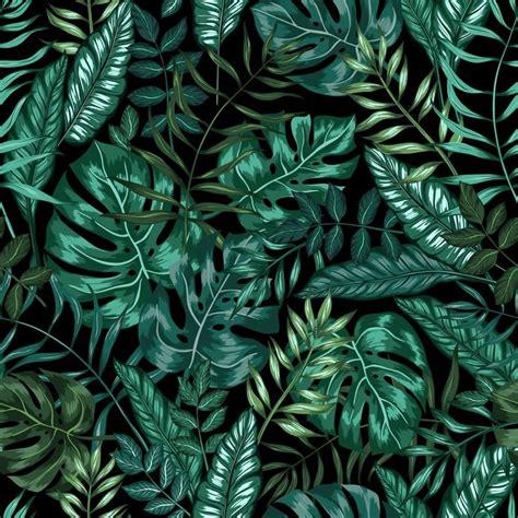 jungle wallpaper pattern seamless graphical artistic tropical nature jungle pattern