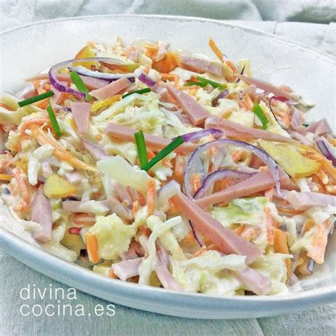 como se cocina la col ensalada de col con manzana divina cocina