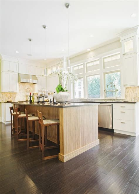 dark kitchen cabinets with light wood floors 34 kitchens with dark wood floors pictures