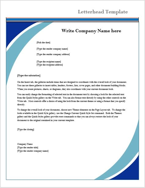 microsoft word letter template example youtube