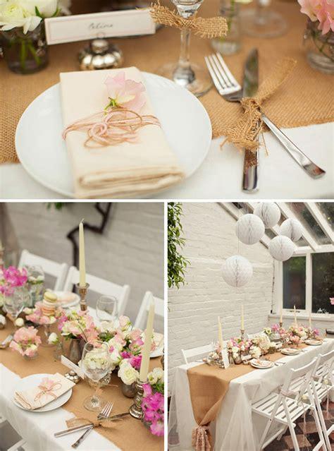 wedding table decorations inspiration hessian wedding inspiration for rustic wedding decorations