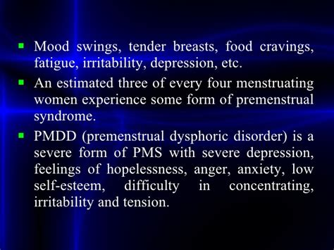 pmdd mood swings women s disorders ppt