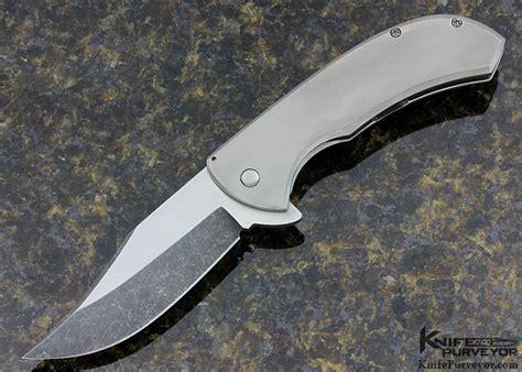 gedraitis knives chuck gedraitis frame lock quot bad bowie quot flipper