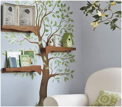 tree shelf diy and decorating