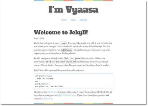 jekyll themes install vyaasa